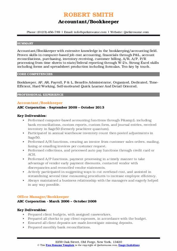 bookkeeper resume samples qwikresume pdf awesome examples customer service representative Resume Bookkeeper Resume Samples