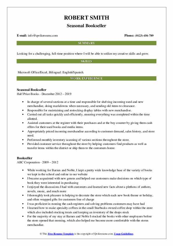 bookseller resume samples qwikresume nerd contact number pdf direct support professional Resume Resume Nerd Contact Number