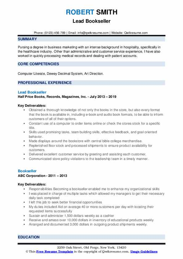 bookseller resume samples qwikresume nerd contact number pdf objective for maintenance Resume Resume Nerd Contact Number