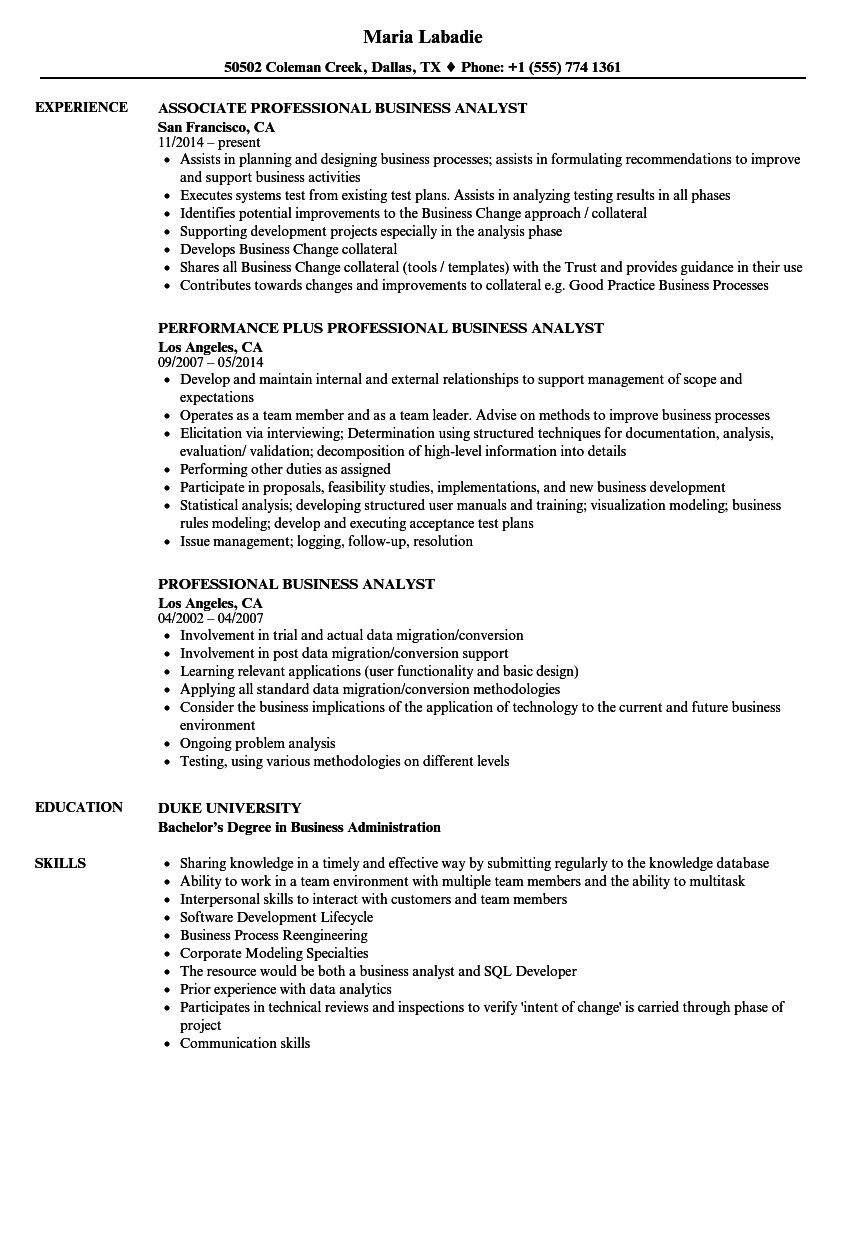 business analyst resume examples ideal professional samples of the data migration Resume Data Migration Business Analyst Resume