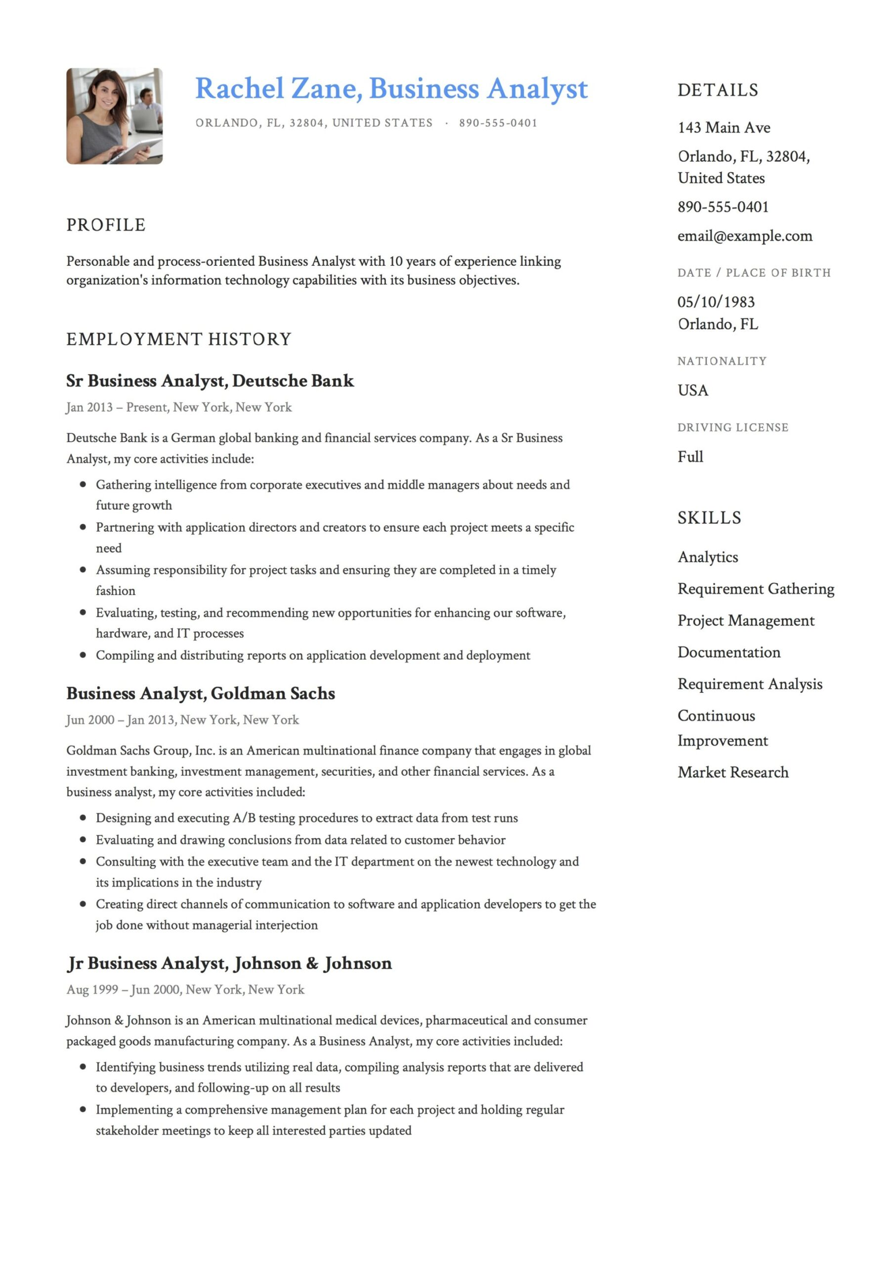 business analyst resume guide templates pdf free downloads senior example template Resume Senior Business Analyst Resume Example