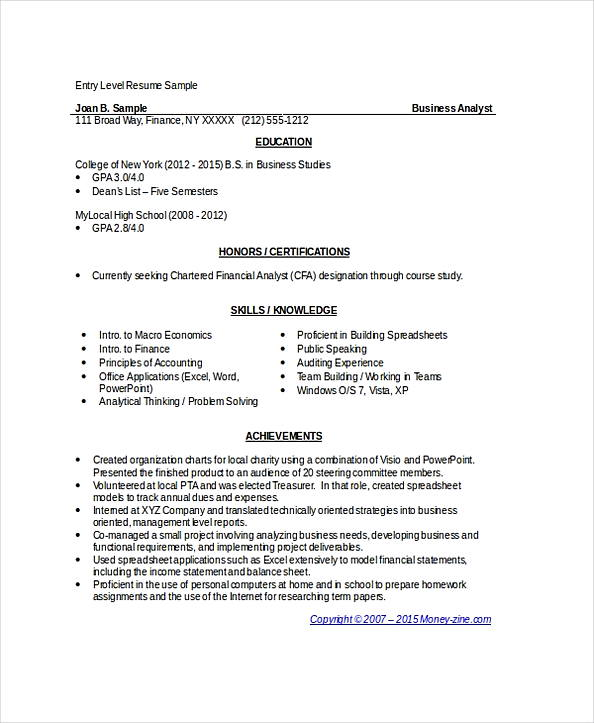 business analyst resume indeed sample entry level commercial acting industrial Resume Business Analyst Resume Indeed