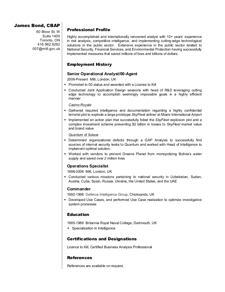 business analyst resume sample james format for fresher phpapp01 thumbnail clinical Resume Resume Format For Business Analyst Fresher