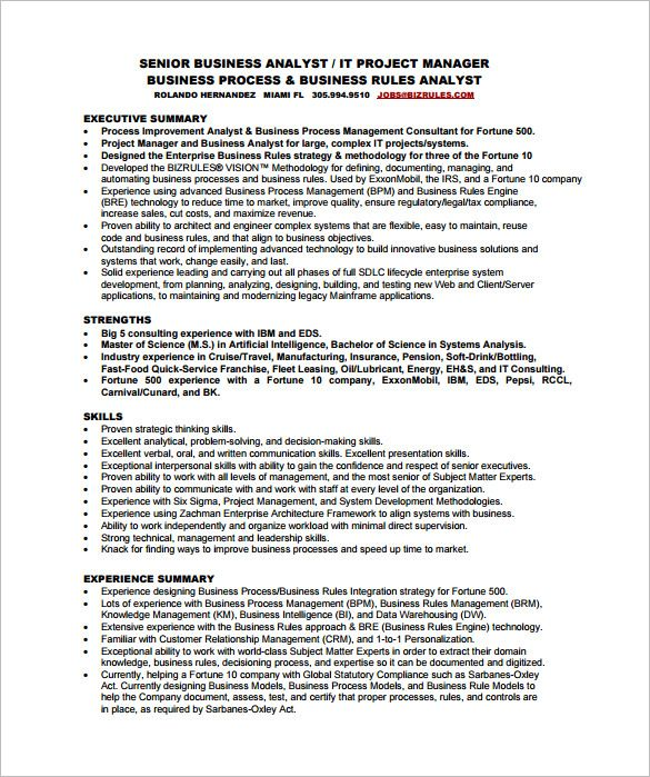 business analyst resume sample pdf best examples format for fresher address on fast food Resume Resume Format For Business Analyst Fresher