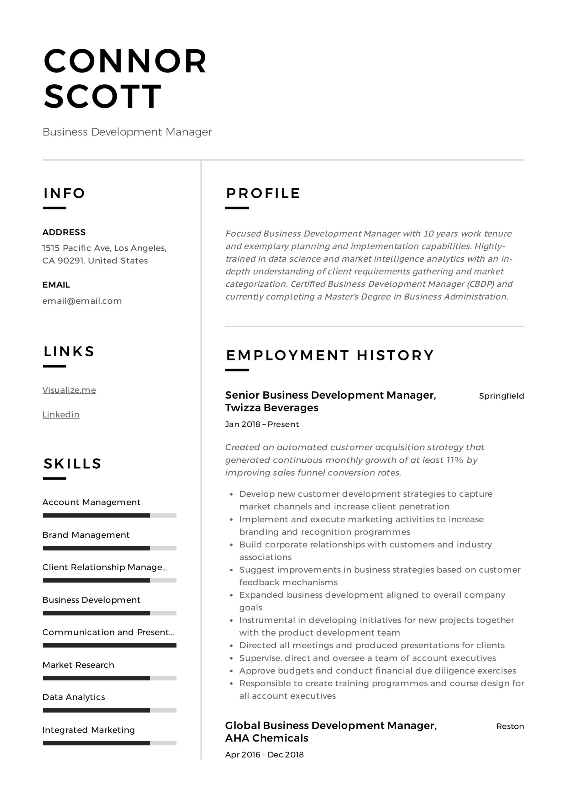 business development manager resume guide templates pdf sample best receptionist offshore Resume Business Development Resume Sample