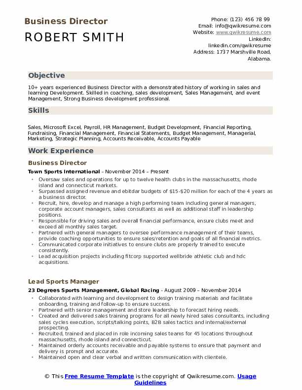 business director resume samples qwikresume pdf ramp agent okstate help examples for Resume Business Director Resume