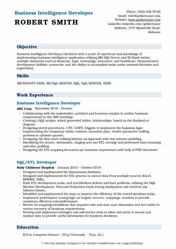 business intelligence developer resume samples qwikresume ssrs for years experience pdf Resume Ssrs Resume For 3 Years Experience