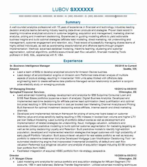 business intelligence manager resume example accenture mc lean education format high Resume Business Intelligence Resume