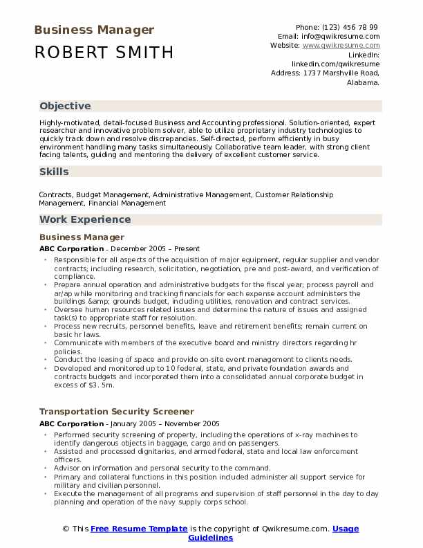 business manager resume samples qwikresume template pdf student affairs logistics analyst Resume Business Resume Template