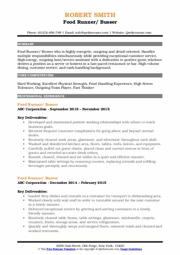 busser resume samples qwikresume job description for pdf devry operational risk sample Resume Busser Job Description For Resume