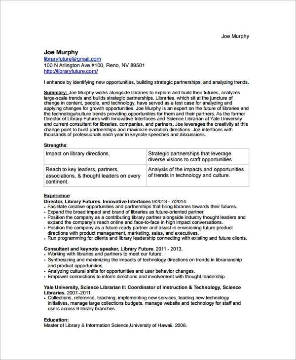 by librarian resume samples format sample for agile tester roles and responsibilities Resume Resume Sample For Librarian