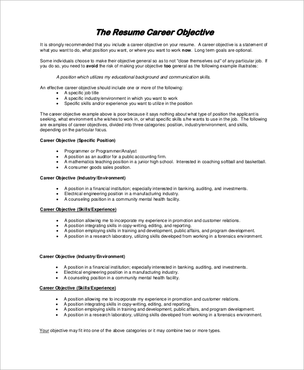 by objective for resume samples format sample any position free rn splunk experience law Resume Sample Objective For Resume For Any Position