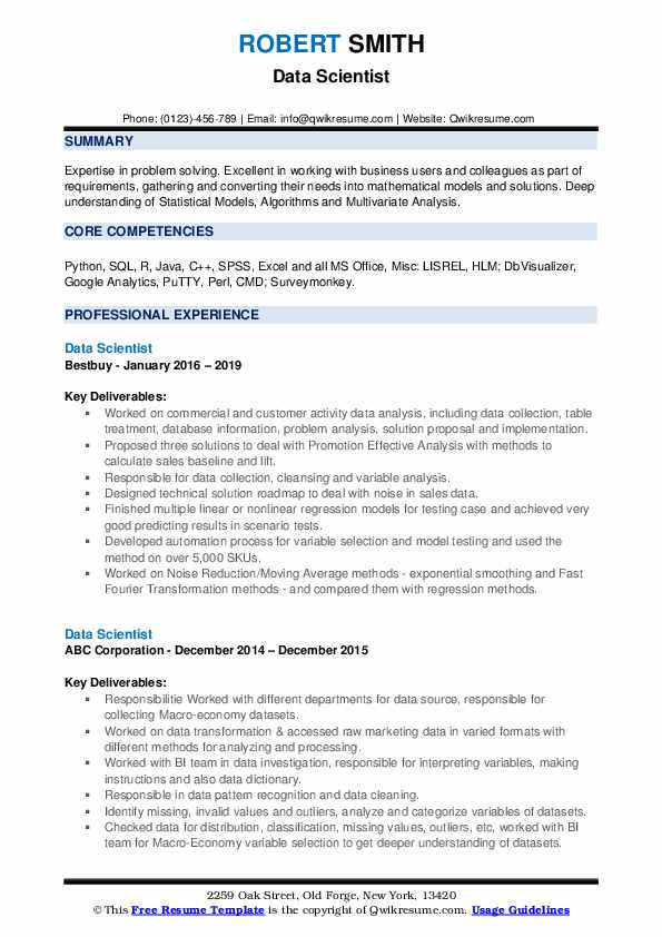 by science resume samples format visualizer sample accounting skills performance testing Resume Visualizer Resume Sample