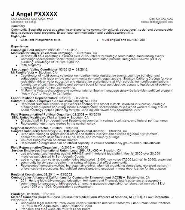 campaign field director resume example resumes livecareer manager professional summary Resume Campaign Manager Resume