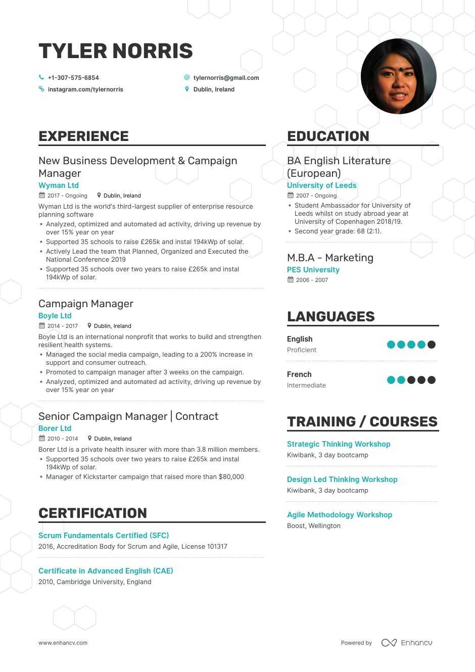 campaign manager resume example for enhancv entry level film format fresher 12th pass Resume Campaign Manager Resume