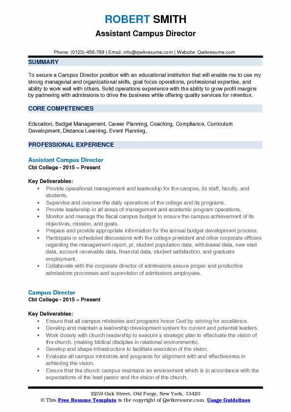 campus director resume samples qwikresume for position pdf marketing analyst text format Resume Resume For Director Position