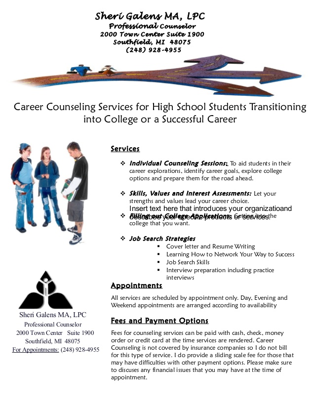 career counseling office flyer for students and resume writing jobhero workday hris Resume Career Counseling And Resume Writing