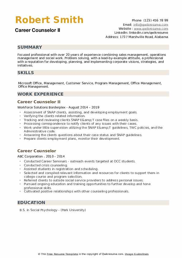 career counselor resume samples qwikresume counseling and writing pdf awarded employee of Resume Career Counseling And Resume Writing