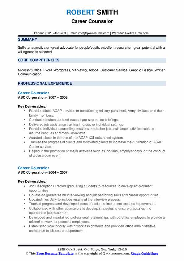 career counselor resume samples qwikresume counseling and writing pdf housemaid example Resume Career Counseling And Resume Writing