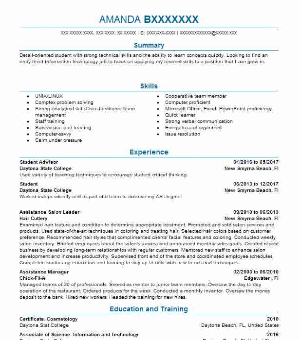 career objective for college student resume best examples simple job assistant principal Resume Objective For A College Resume