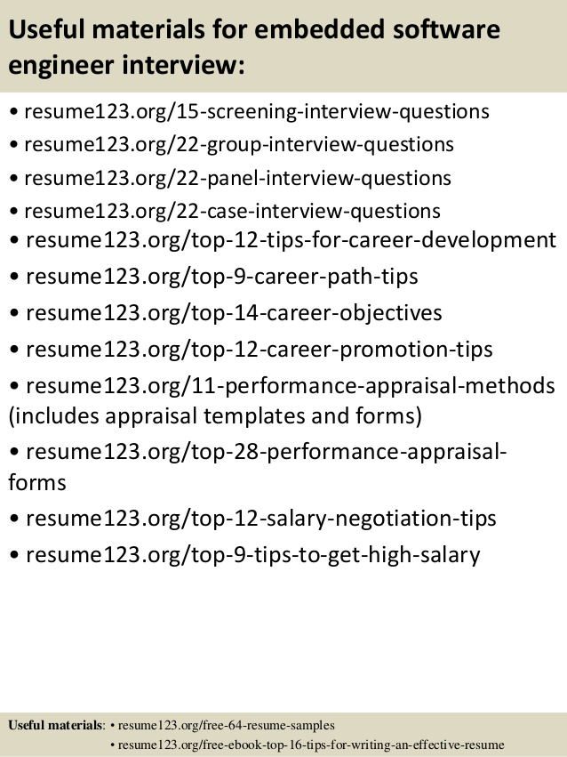 career objective for resume of an it software engineer experienced engineers top embedded Resume Objective For Resume For Experienced Software Engineers