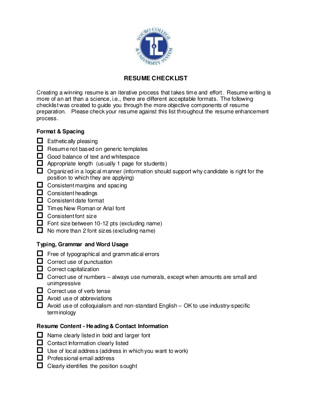 career services resume checklist for writing impressive high school professional writers Resume Checklist For Resume Writing