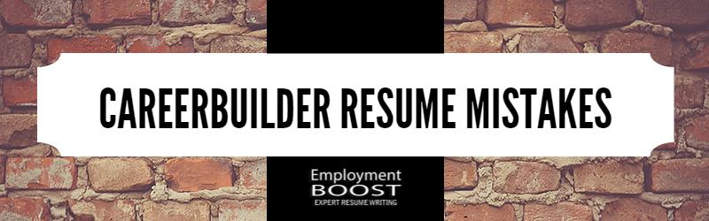 careerbuilder resume mistakes that can cost you interviews builder sap crm functional Resume Careerbuilder Resume Builder