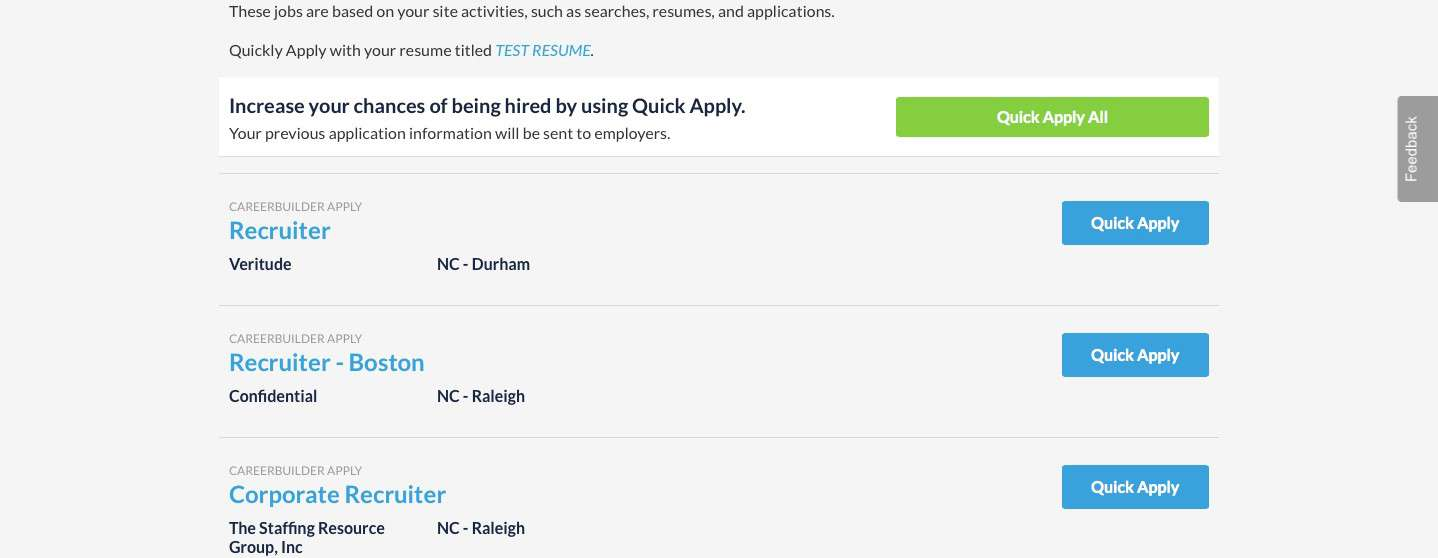 careerbuilder unveils quick apply all feature to simplify application process create Resume Careerbuilder Create Resume