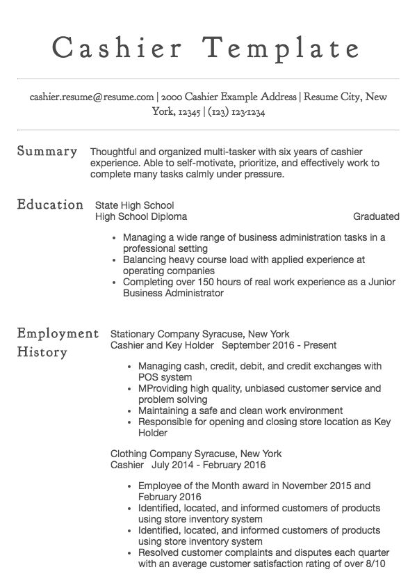 cashier resume samples all experience levels customer service general child psychologist Resume Resume Cashier Customer Service