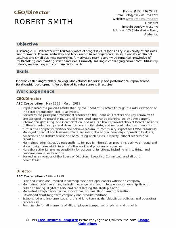 ceo resume samples qwikresume free templates pdf insurance consultant costume assistant Resume Free Ceo Resume Templates