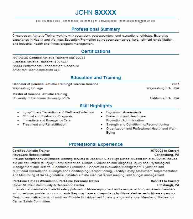 certified athletic trainer resume example mercy health outreach sample infographic Resume Athletic Trainer Resume Sample