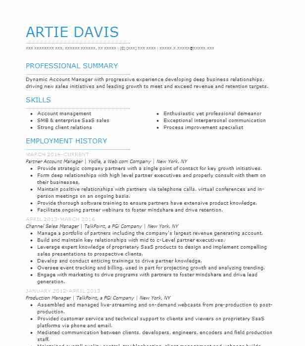 channel manager resume example resumes livecareer business management objective chrono Resume Business Management Objective Resume
