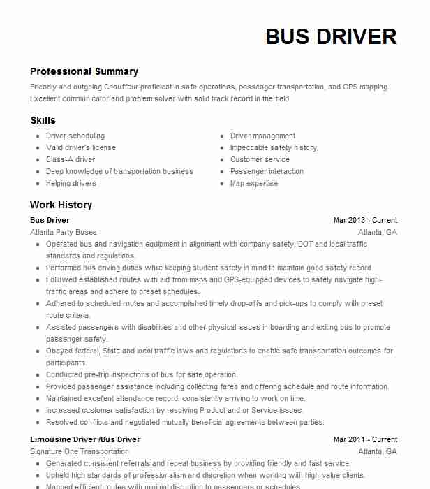 chauffeur driver resume example resumes livecareer limousine microservices sample appen Resume Limousine Chauffeur Resume