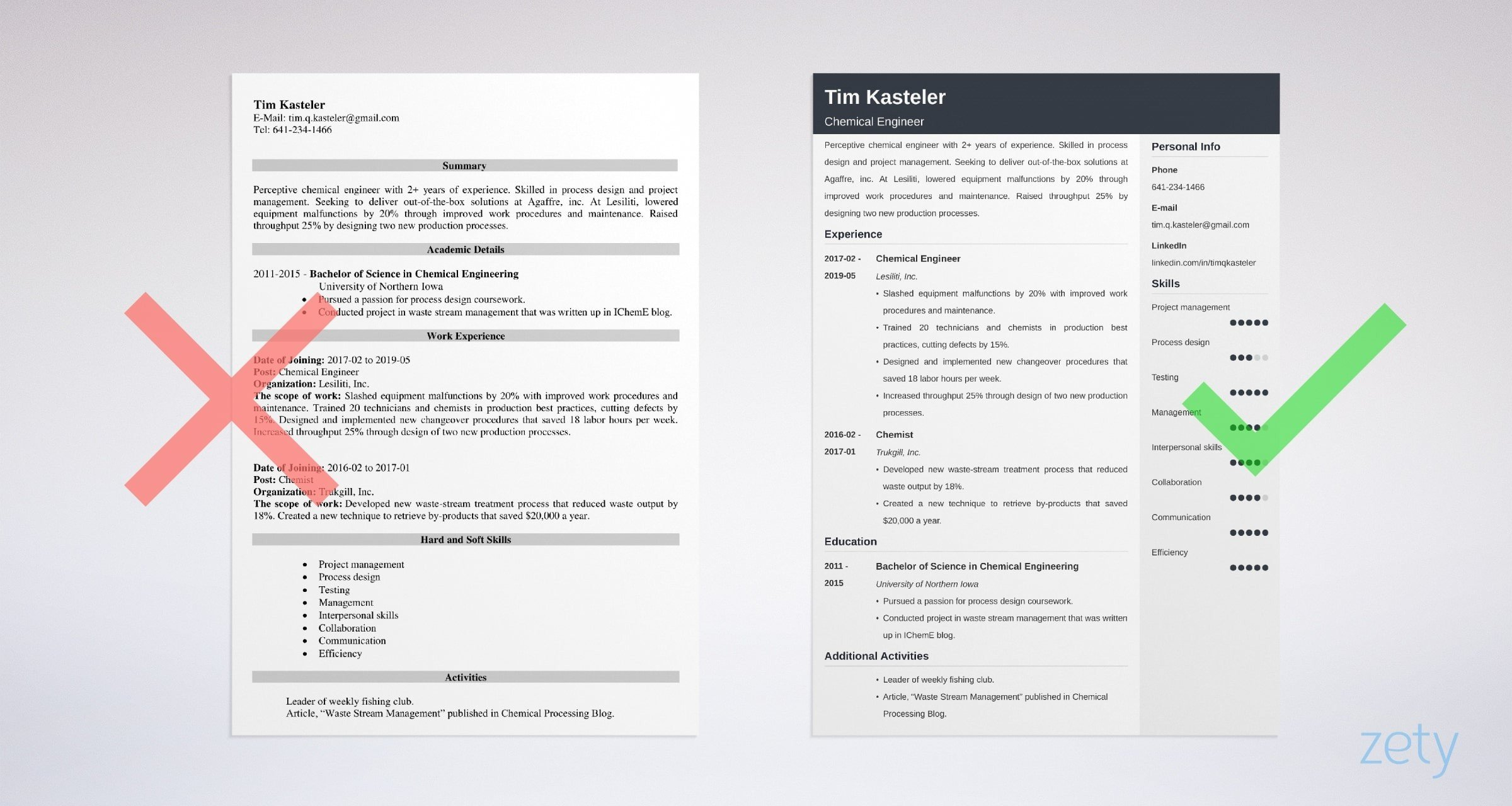 chemical engineering resume sample guide template format engineer example simple for Resume Chemical Engineering Resume Format Download