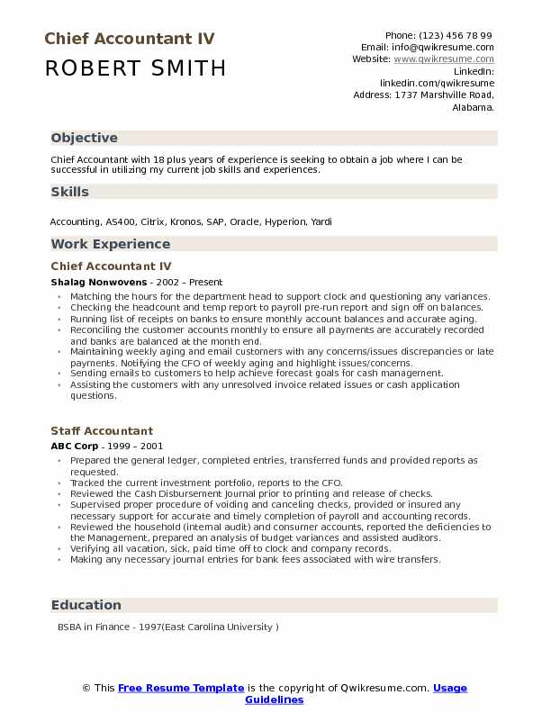 chief accountant resume samples qwikresume work experience pdf information security Resume Work Experience Accountant Resume