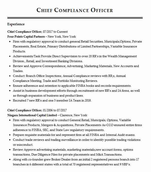 chief compliance officer resume example capital management ccm louisville objective Resume Compliance Officer Resume Objective