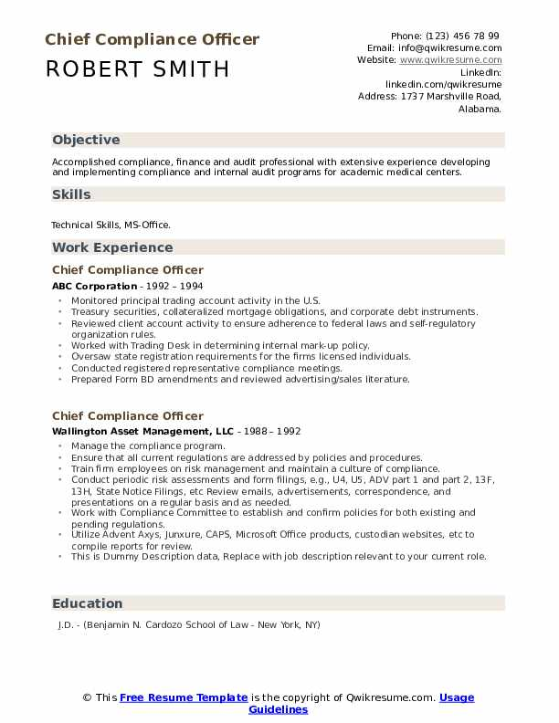 chief compliance officer resume samples qwikresume summary pdf security guard Resume Compliance Officer Resume Summary