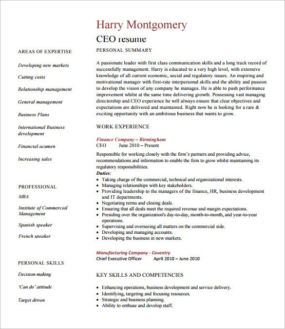 chief executive officer resume template free word excel pdf format premium templates ceo Resume Ceo Resume Template Word Free
