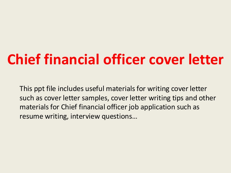 chief financial officer cover letter cfo resume chieffinancialofficercoverletter phpapp02 Resume Cfo Resume Cover Letter