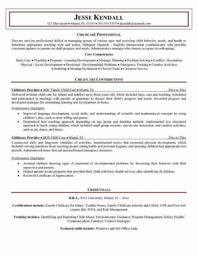 child care resume skills experience format manufacturing engineer objective lvn job Resume Child Care Resume Skills
