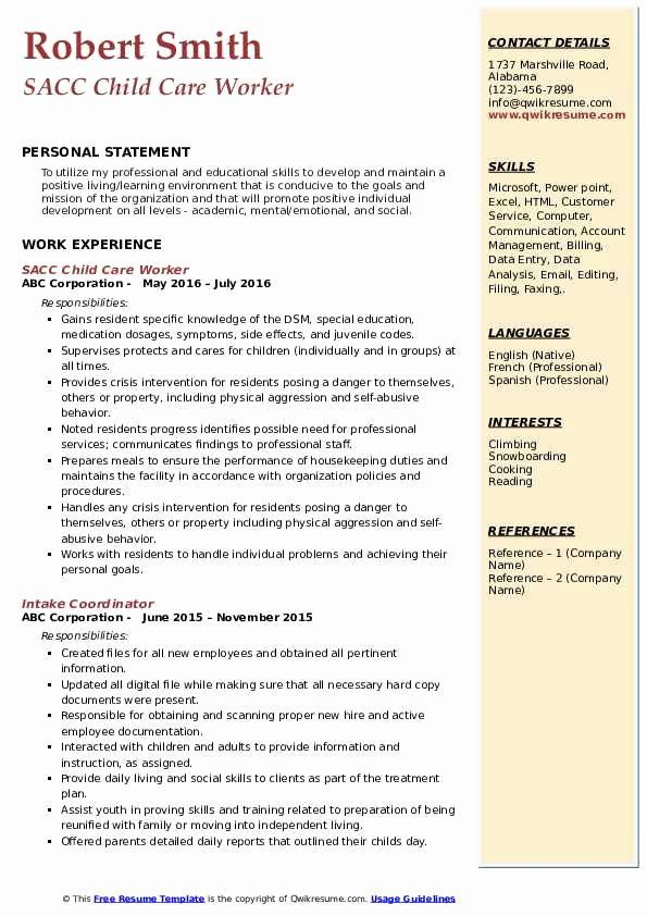 child care worker resume awesome samples in examples childcare jobs teacher skills ssis Resume Child Care Resume Skills