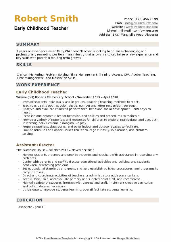 childhood teacher resume samples qwikresume examples pdf project control analyst sample Resume Early Childhood Teacher Resume Examples