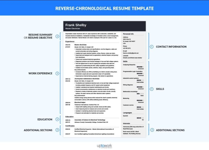 chronological resume template format examples sample reverse entry level software Resume Chronological Resume Sample