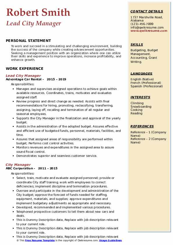city manager resume samples qwikresume examples pdf senior medical representative freight Resume City Manager Resume Examples