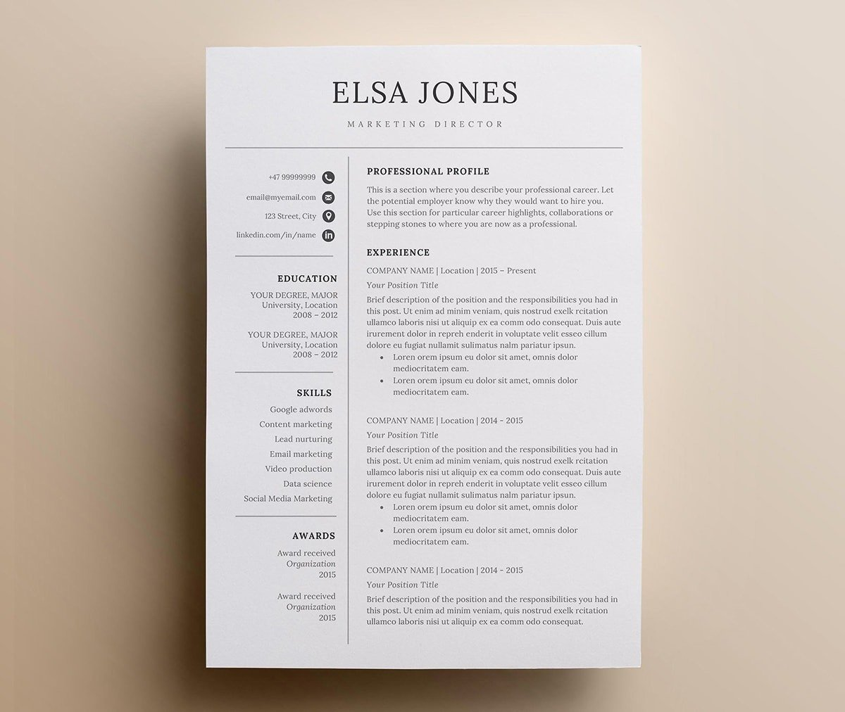 clean minimalist resume templates sleek design adobe spark examples ecommerce analyst Resume Adobe Spark Resume Examples