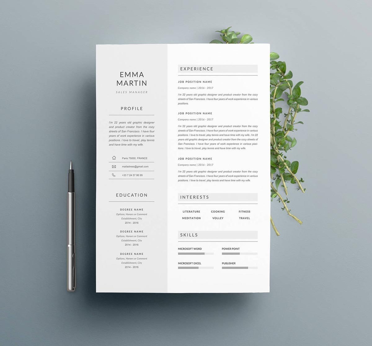 clean minimalist resume templates sleek design using excel objective portion of examples Resume Resume Minimalist Design