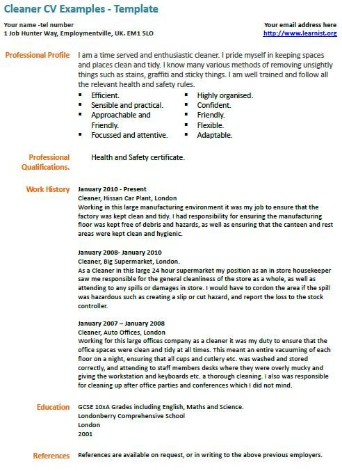cleaner cv example learnist org examples resume free samples cleaning services summary Resume Cleaning Services Resume