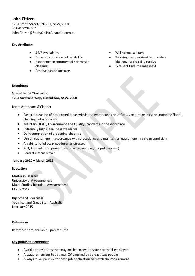 cleaning resume sample availability hvac installer anime personal attributes examples for Resume Resume Availability Sample