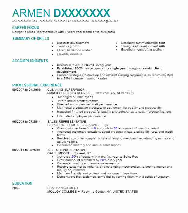 cleaning supervisor resume example resumes livecareer service manager for mba finance Resume Cleaning Service Manager Resume