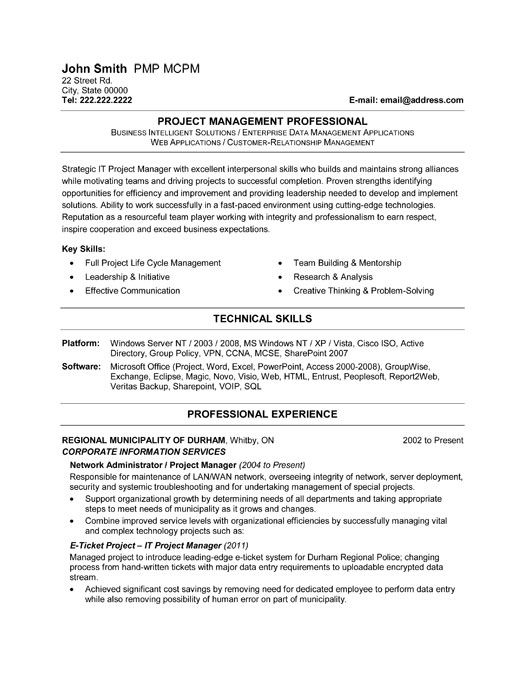 click here to this it project manager resume template http resumetemplates10 professional Resume Technical Project Manager Resume